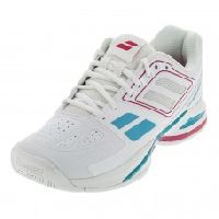 White-pink Babolat Propulse Team Bpm All Court Womens Tennis Shoes