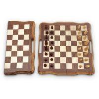 4020 Burn Wooden Chess Board