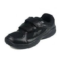 Nivia All Black-k School Kids Tennis Shoes