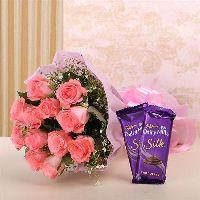 Silk Pink Flowers