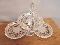 Queen Anne Silver Plated Cake Plate