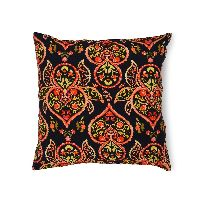Black Paisley Cushion Cover