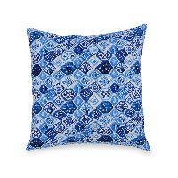 Blue Ikat Cushion cover