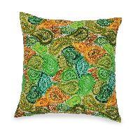 Green Paisley Cushion cover