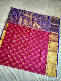 Hot Pink Banarasi Katan Silk Saree