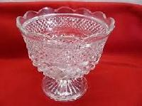 Fruit Bowl With Base, Crystal Border Bowls