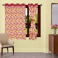 Lushomes 8 Eyelets Plain Tiebacks Windows Basic Printed Cotton Curtains