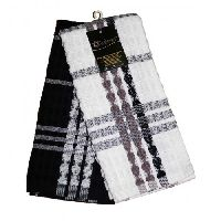Lushomes Black Terry Kitchen Towels