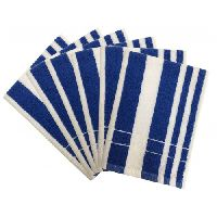 Lushomes Ultra-silky Stripe Finish Blue Hand Towels