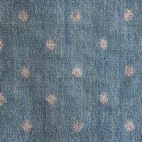 Lushomes Blue Polka Dots Fluffy Face Towels Set