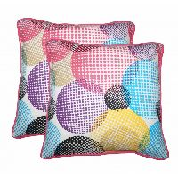 Lushomes Circles Printed Cotton Cushion Covers