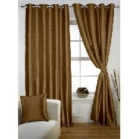 Lushomes 8 Eyelets Doors Coffee Twinkle Star Blackout Lining Curtain