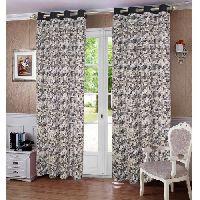 Lushomes 8 Eyelets Plain Tiebacks Door Coins Printed Cotton Curtains