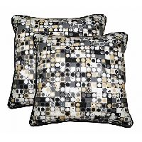 Lushomes Coins Printed Cotton Cushion Covers