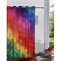 Lushomes Digitally Printed Bubbles Shower Curtain With 10 Eyelets