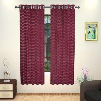Lushomes 6 Plastic Eyelets Window Embossed Purple Blueberry Curtain