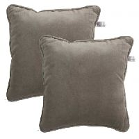 Lushomes  Non Woven Lining Grey Direct Filled Velvet Cushion