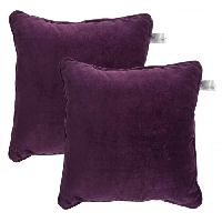 Lushomes Non Woven Lining Purple Direct Filled Velvet Cushion