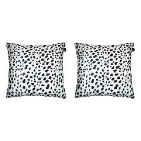 Lushomes White Leopard Skin Printed Cushion Covers