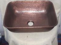 3006 Undermount Hammered Rectangular Copper Sink