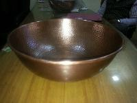 3009 Round Embossed Copper Sink