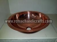 2002 Undermount Hammered Round Copper Sink