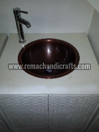 2004 Undermount Hammered Round Copper Sink