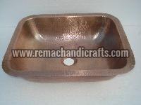 2006 Undermount Hammered Rectangular Copper Sink