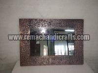 6005 Rectangular Hammered Copper Mirror
