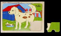 Let's Complete Picture - Dog In Kennel Educational Puzzle Toys