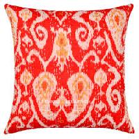 Cotton Thread Embroidered Jute- Cotton Cushion Cover
