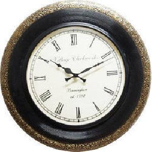 Brass Line Wall Clock