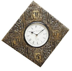 Buddha Brass Fitted Wall Clock