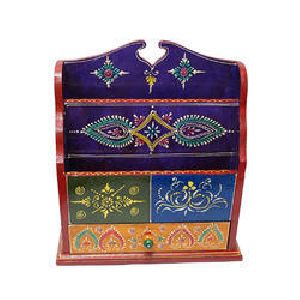 Dmh03-ai01-purple Wooden Magazine Holder With Drawer