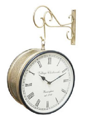 Double Sided Station Wall Clocks