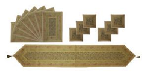 Tr04-golden Designer Table Runner