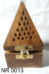 Wooden Temple Cone Incense Stick Burner