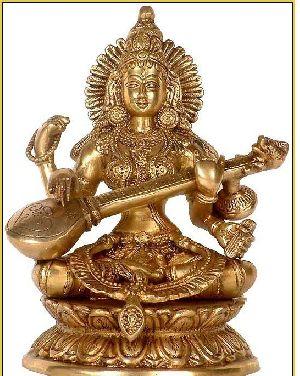 Brass Saraswati Statue