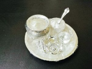 Silver Coated Pooja Thali