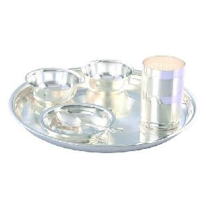 Silver Plated Dinner Thali Set
