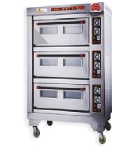 Three Deck Six Trays Electric Baking Oven