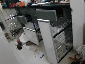 Kitchen Stainless Steel Basket Cabinet