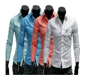 Mens Single Pocket Party Wear Shirts