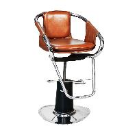 Leather Salon Accent Chair