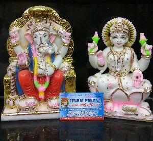 Marble Laxmi Ganesh Statues
