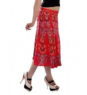 95b6d74934f Hippie Decor Indian Mandala Red Short Skirt