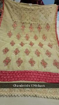 Designer Unstitched Chanderi Suit
