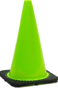 """SC-RS70032C-LIME - JBC 28"""" Fluorescent (lime) Standard Traffic Cone"""