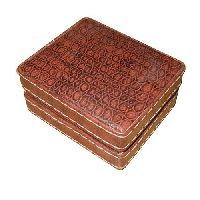 Square Shaped Leather Jewellery Box