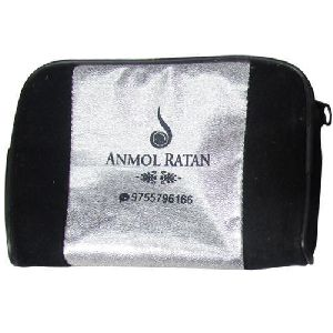 Silver & Black Jewellery Packaging Pouch